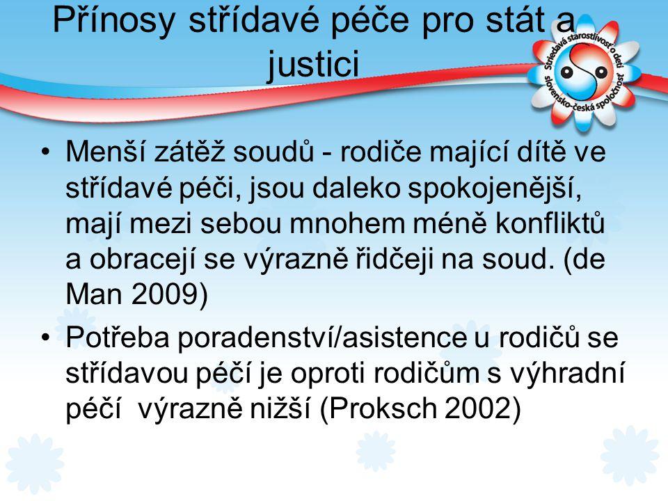 Přínosy střídavé péče pro stát a justici