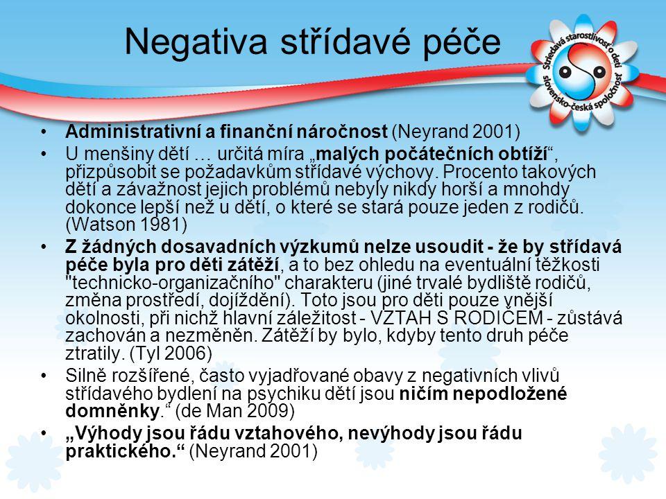 Negativa střídavé péče