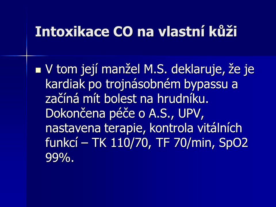 Intoxikace CO na vlastní kůži