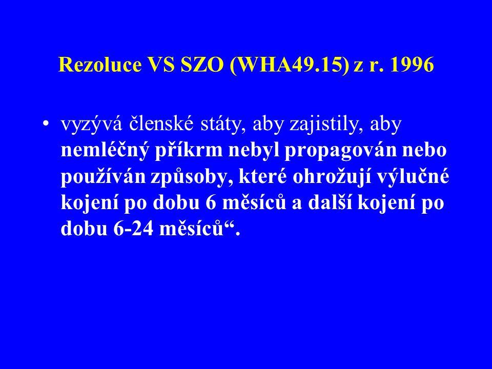 Rezoluce VS SZO (WHA49.15) z r. 1996