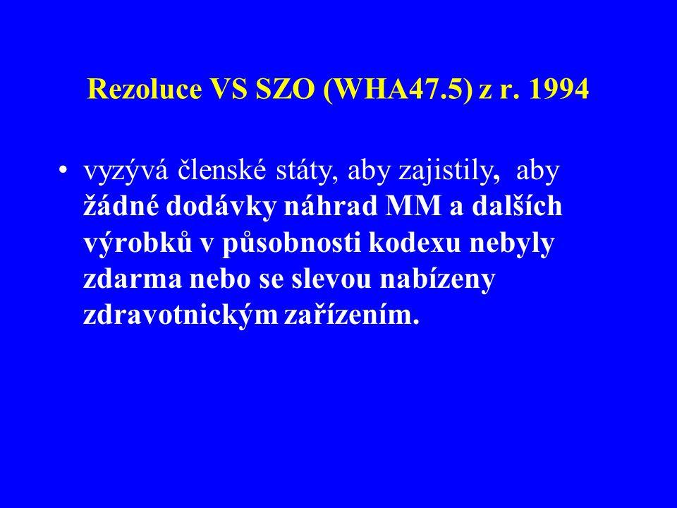 Rezoluce VS SZO (WHA47.5) z r. 1994