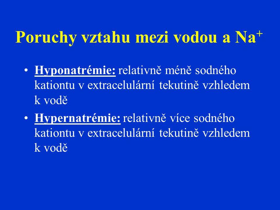 Poruchy vztahu mezi vodou a Na+