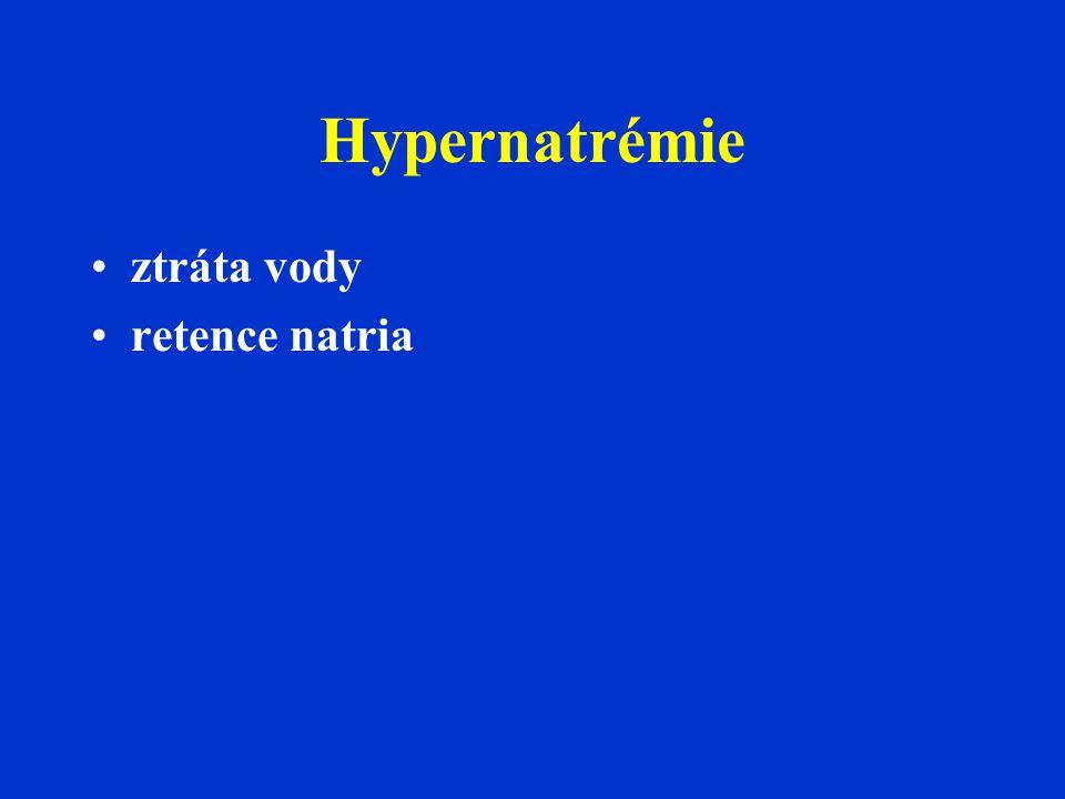 Hypernatrémie ztráta vody retence natria