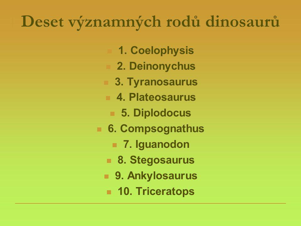 Deset významných rodů dinosaurů