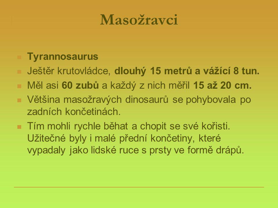 Masožravci Tyrannosaurus