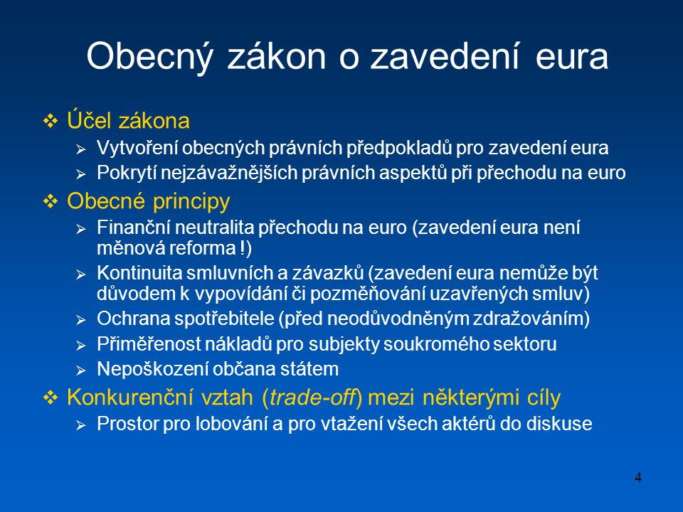 Obecný zákon o zavedení eura