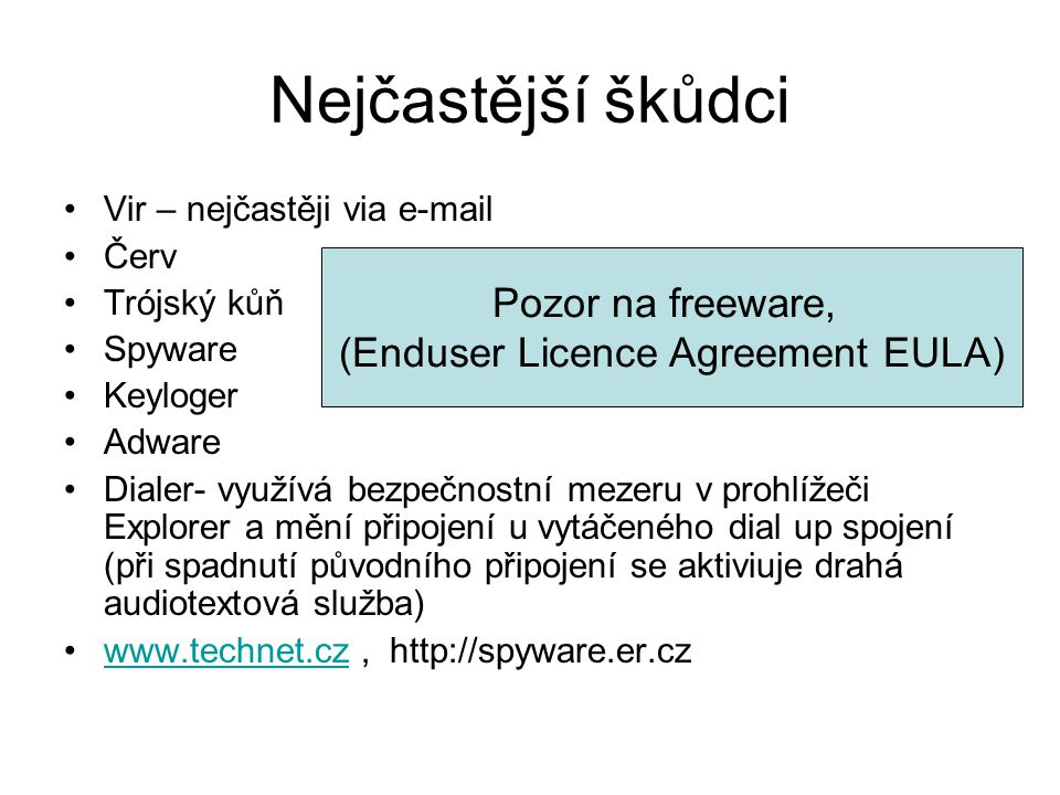 (Enduser Licence Agreement EULA)