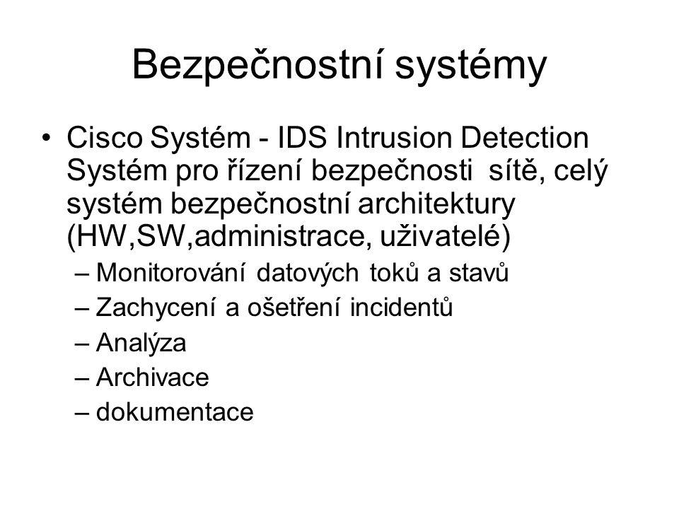 Bezpečnostní systémy