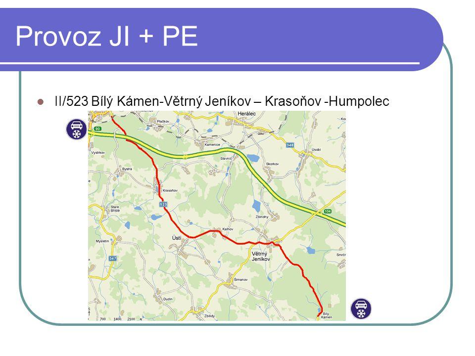 Provoz JI + PE II/523 Bílý Kámen-Větrný Jeníkov – Krasoňov -Humpolec
