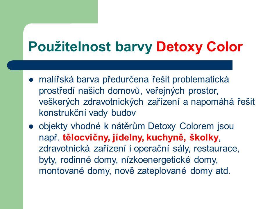 Použitelnost barvy Detoxy Color