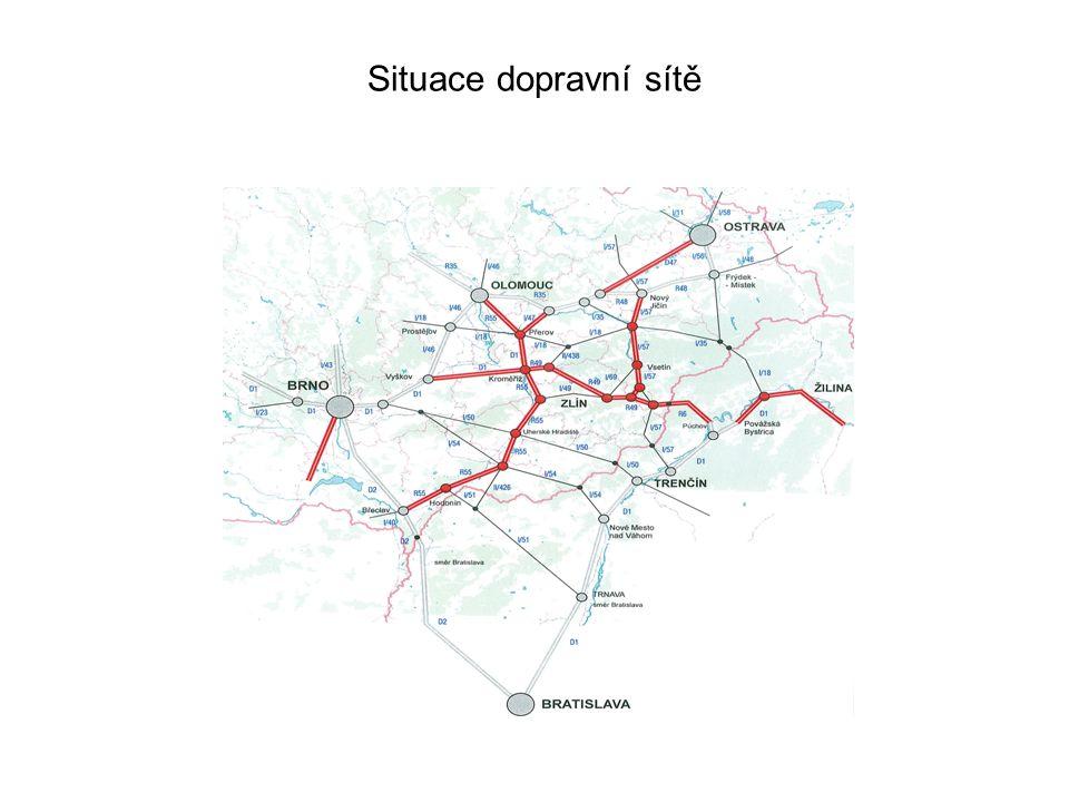 Situace dopravní sítě