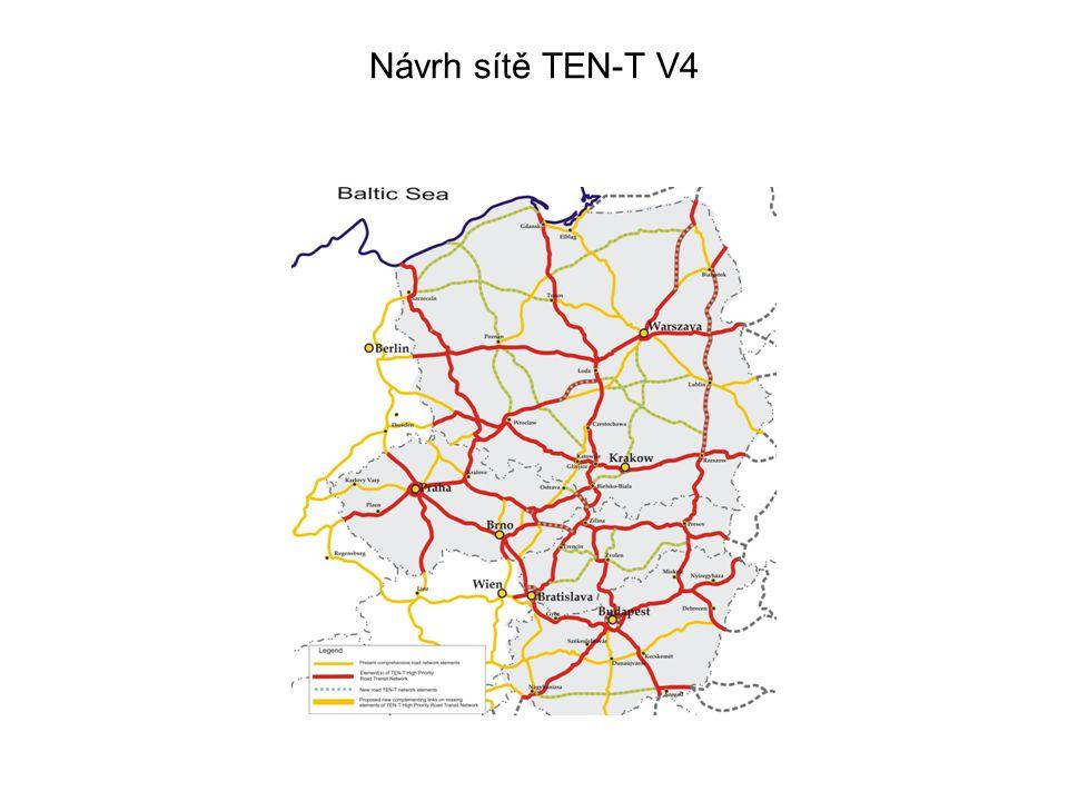 Návrh sítě TEN-T V4