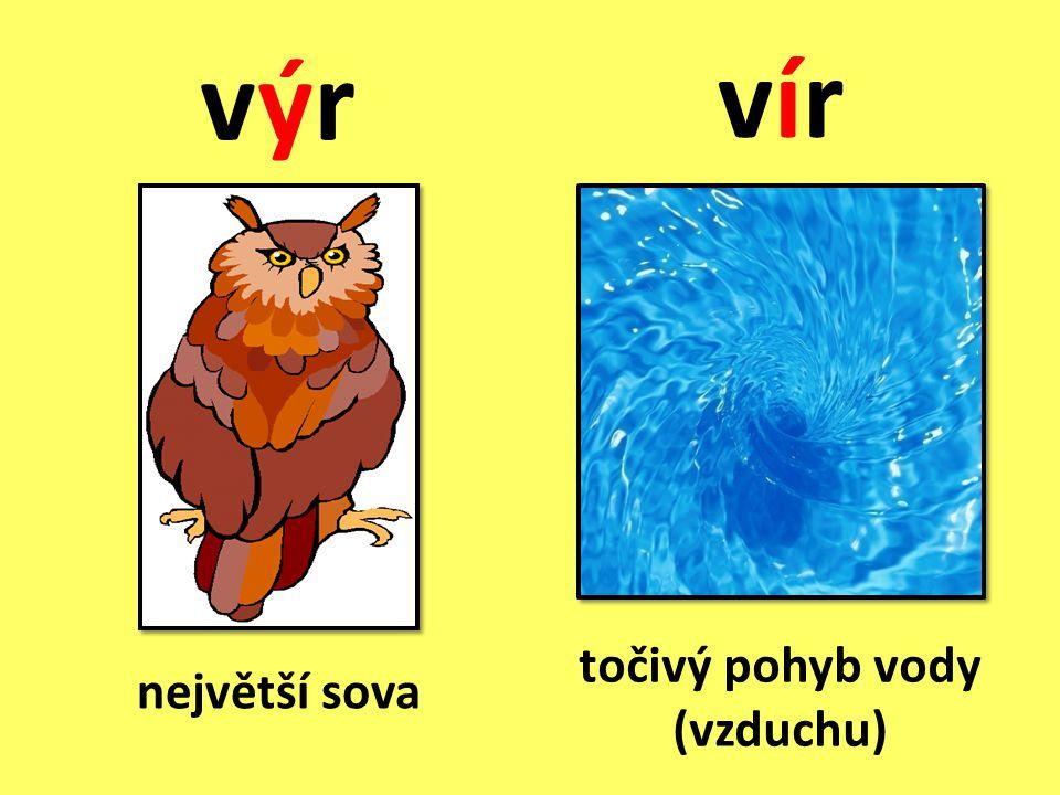 vír výr točivý pohyb vody (vzduchu) největší sova