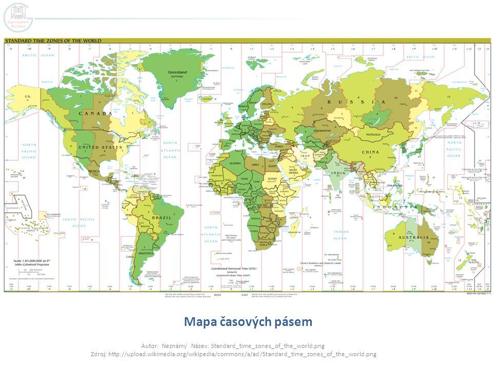 Mapa časových pásem