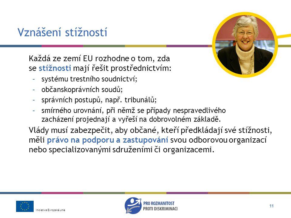 Vznášení stížností Každá ze zemí EU rozhodne o tom, zda se stížnosti mají řešit prostřednictvím: systému trestního soudnictví;