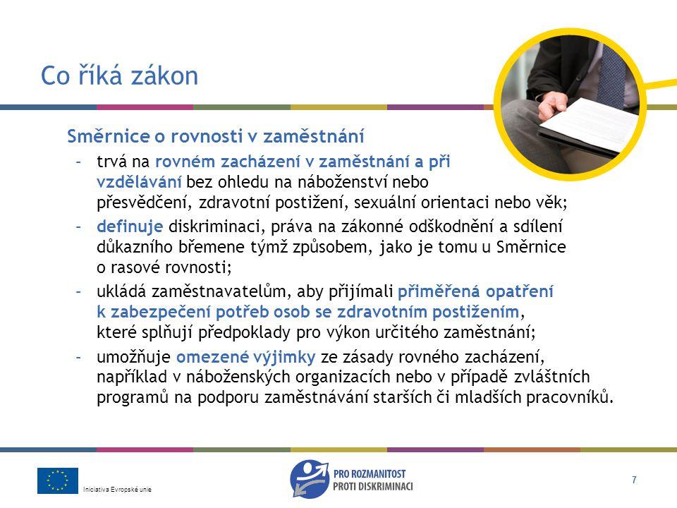 Co říká zákon Směrnice o rovnosti v zaměstnání