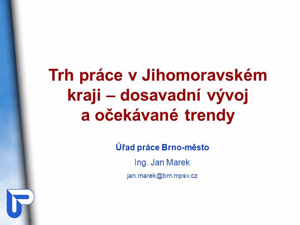 Trh práce v Jihomoravském kraji – dosavadní vývoj