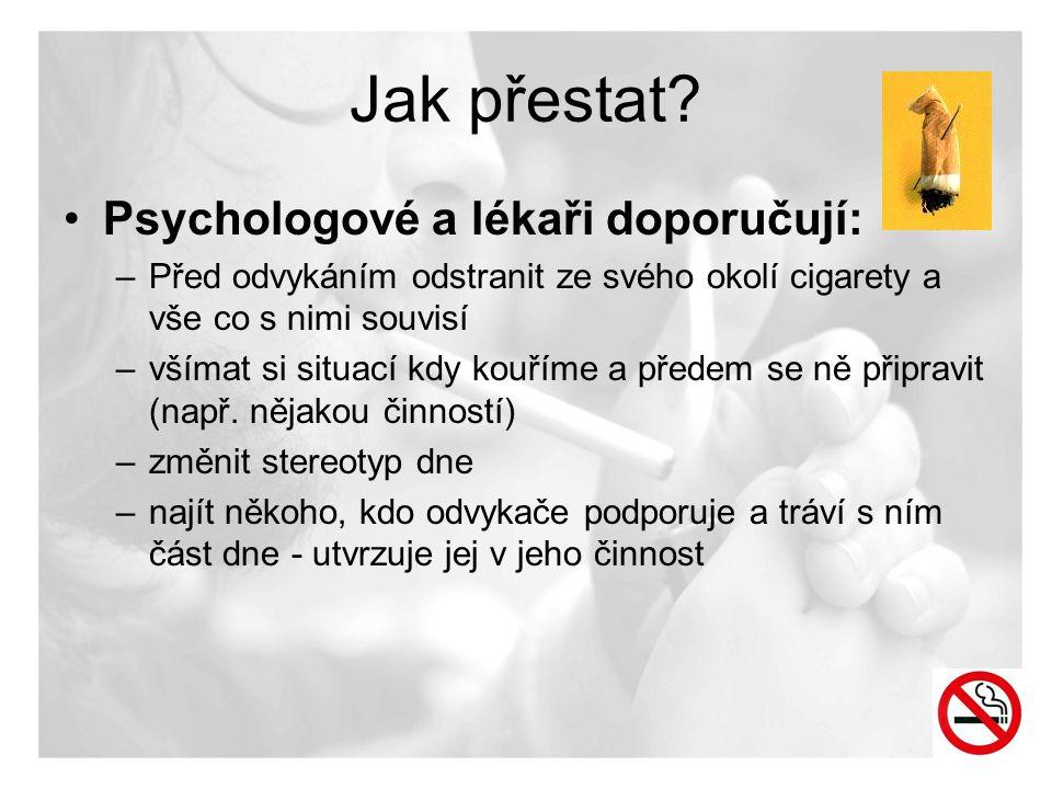 Jak přestat Psychologové a lékaři doporučují: