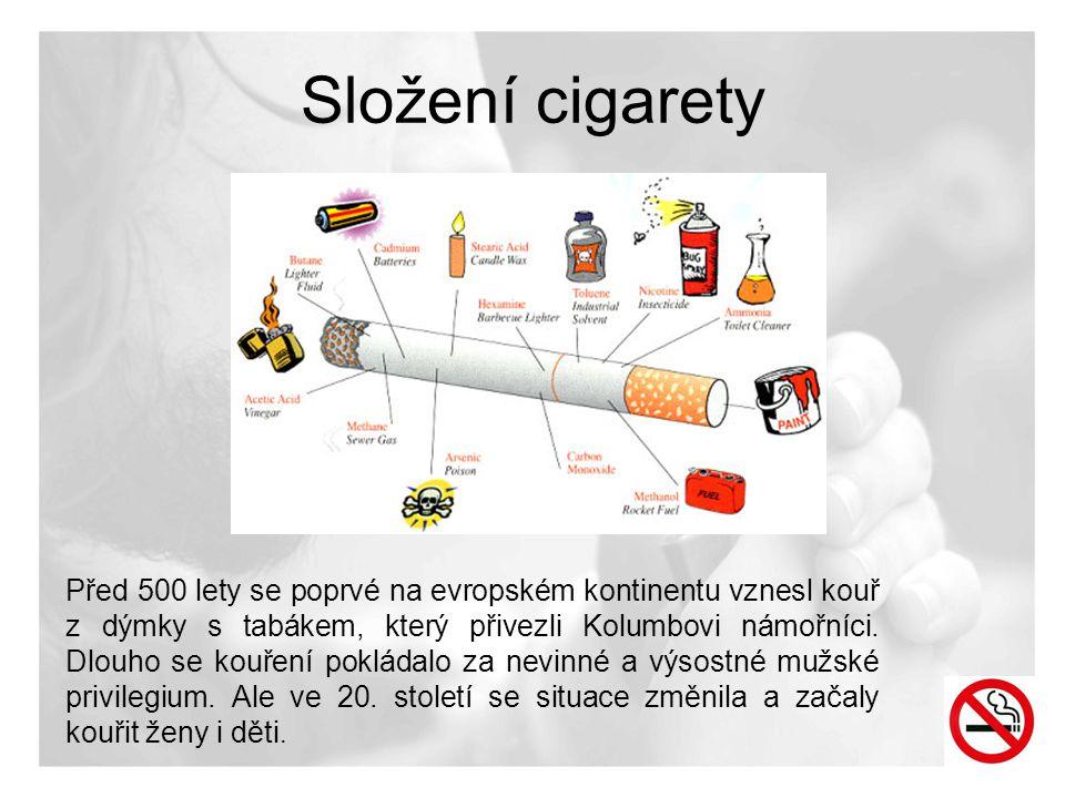 Složení cigarety