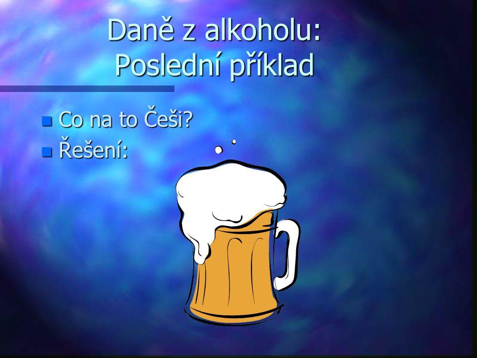 Daně z alkoholu: Poslední příklad