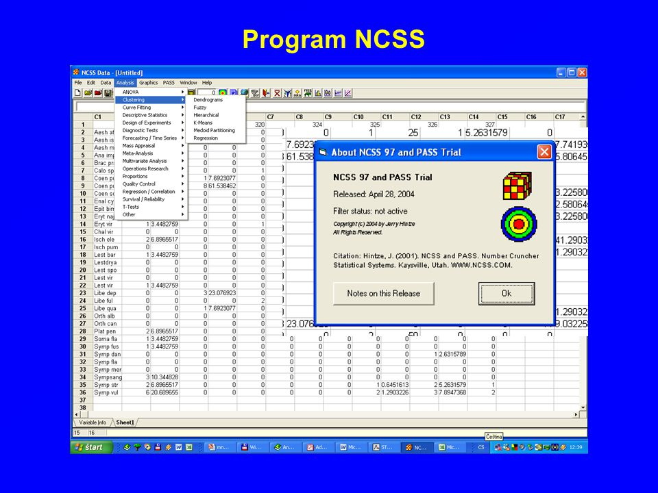 Program NCSS