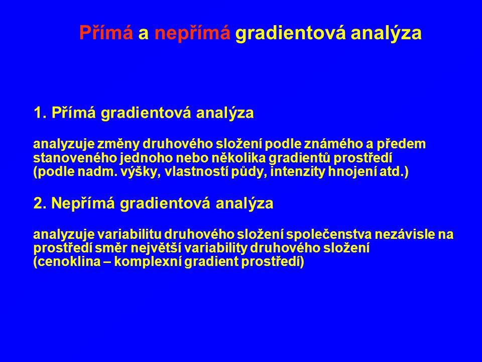 Přímá a nepřímá gradientová analýza