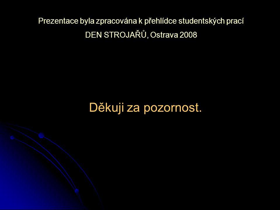 Prezentace byla zpracována k přehlídce studentských prací