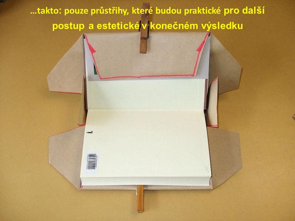 …takto: pouze průstřihy, které budou praktické pro další postup a estetické v konečném výsledku