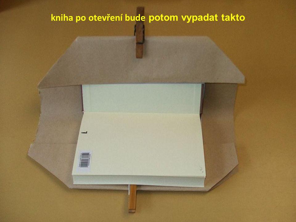 kniha po otevření bude potom vypadat takto