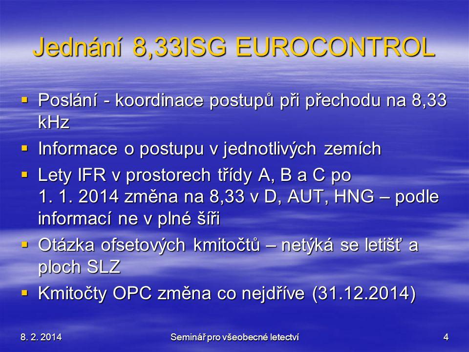 Jednání 8,33ISG EUROCONTROL