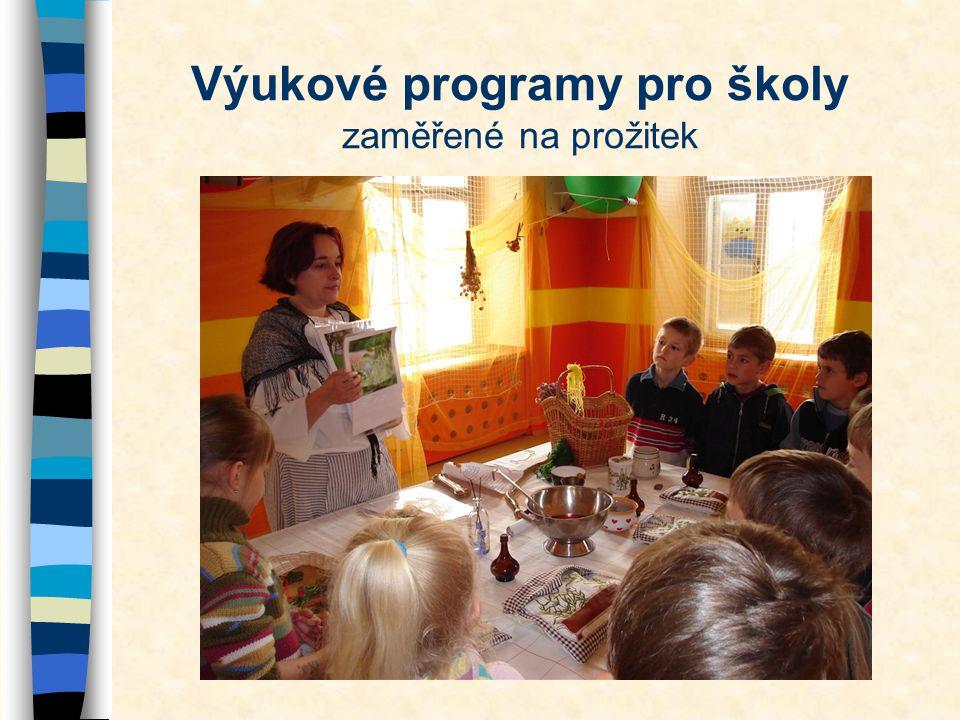 Výukové programy pro školy zaměřené na prožitek