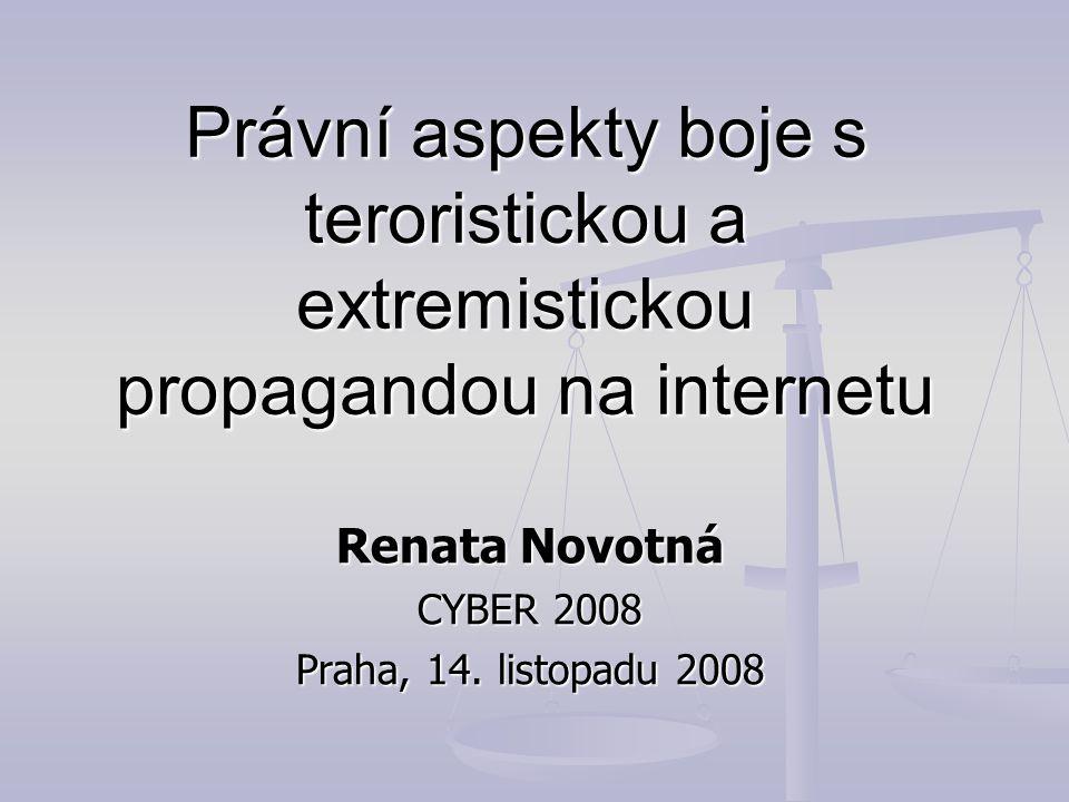 Renata Novotná CYBER 2008 Praha, 14. listopadu 2008