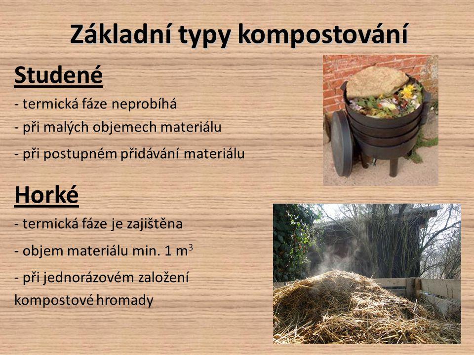 Základní typy kompostování
