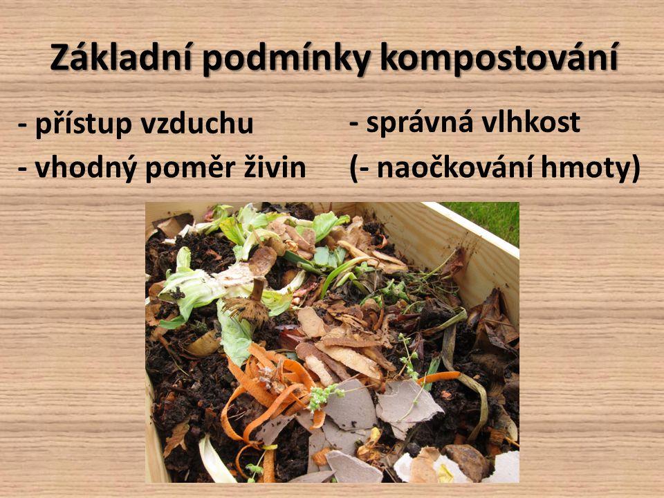 Základní podmínky kompostování