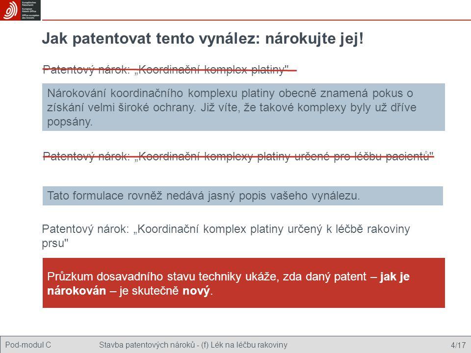 Jak patentovat tento vynález: nárokujte jej!