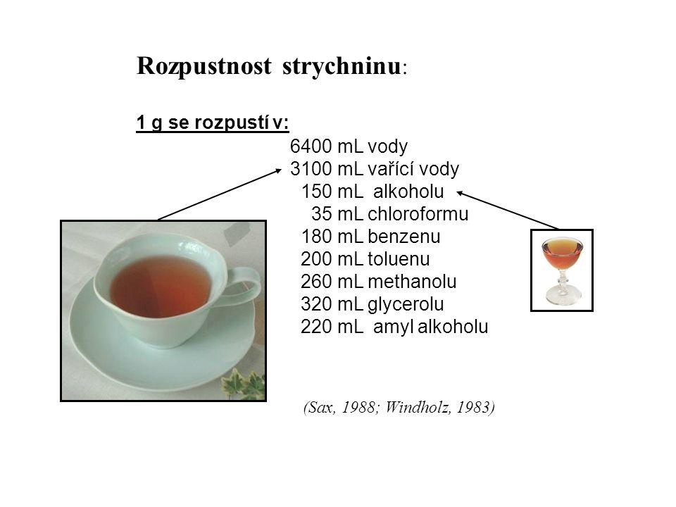 Fyzikální a chemické vlastnosti strychninu