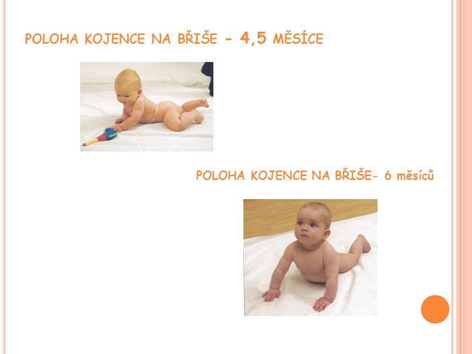 poloha kojence na břiše - 4,5 měsíce