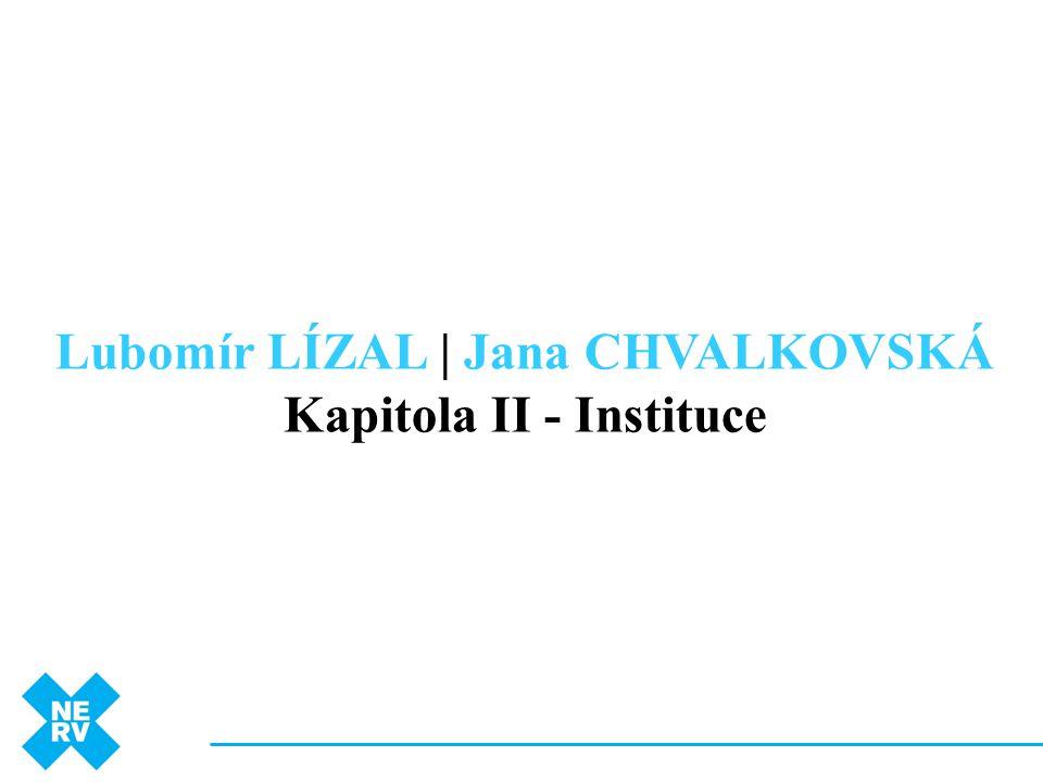 Lubomír LÍZAL | Jana CHVALKOVSKÁ Kapitola II - Instituce