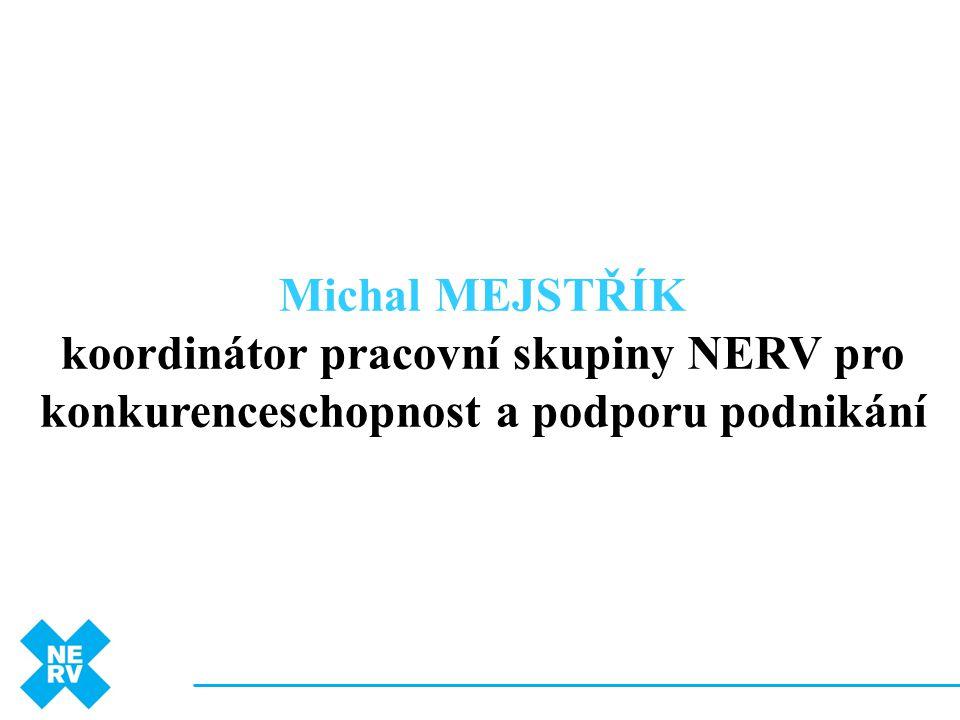 Michal MEJSTŘÍK koordinátor pracovní skupiny NERV pro konkurenceschopnost a podporu podnikání 3