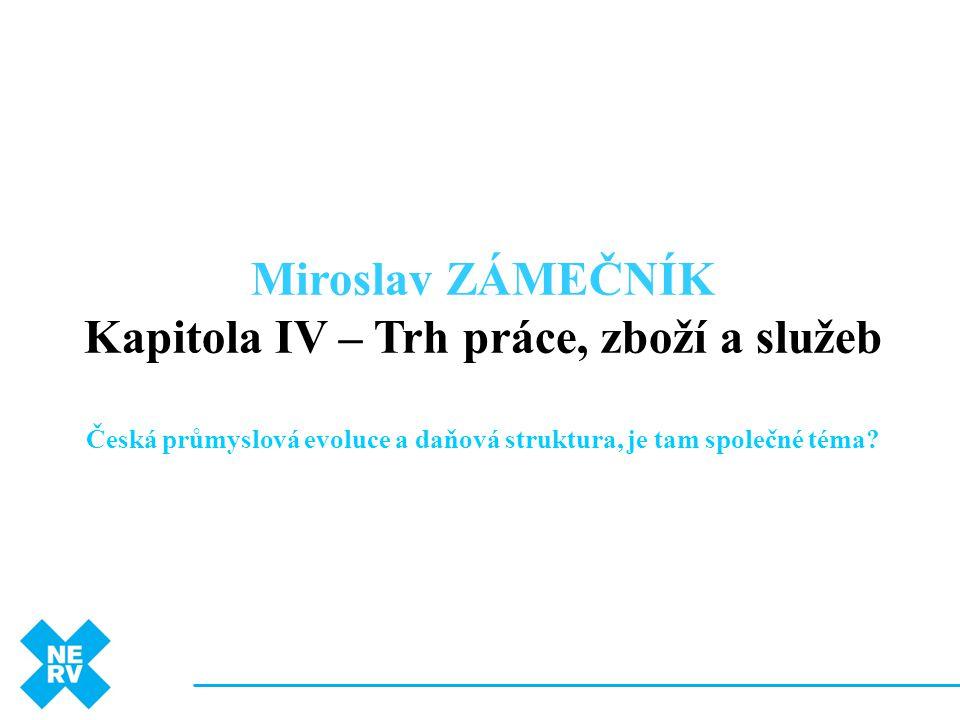 Miroslav ZÁMEČNÍK Kapitola IV – Trh práce, zboží a služeb