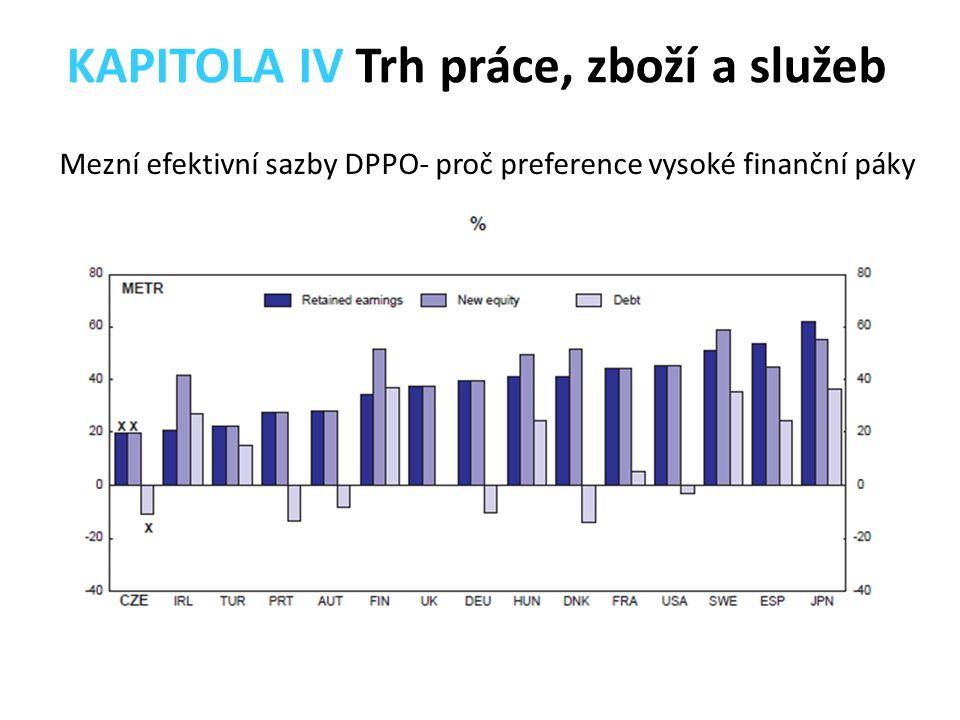 Mezní efektivní sazby DPPO- proč preference vysoké finanční páky