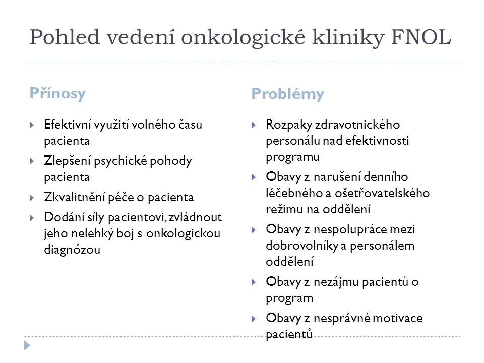 Pohled vedení onkologické kliniky FNOL