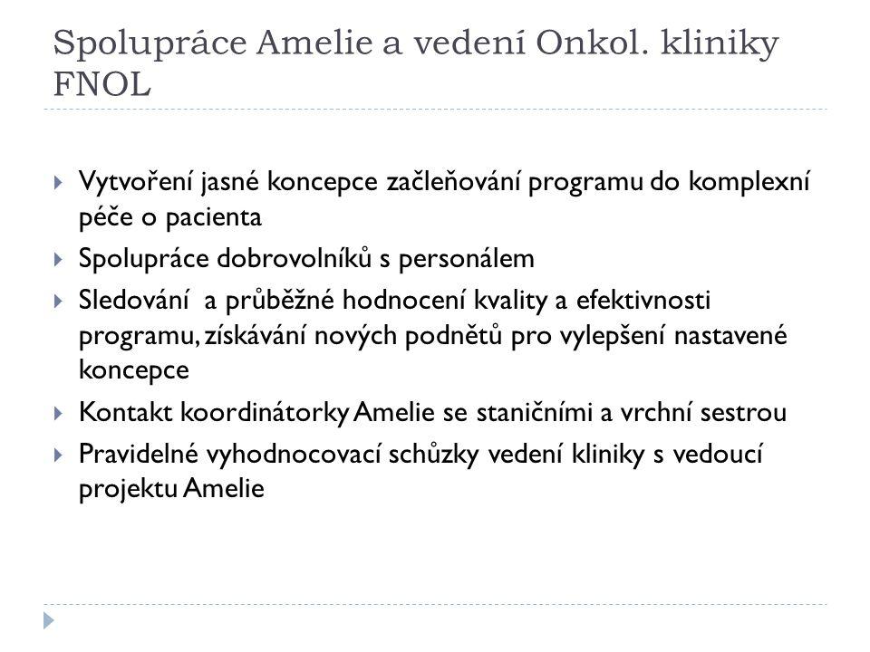 Spolupráce Amelie a vedení Onkol. kliniky FNOL