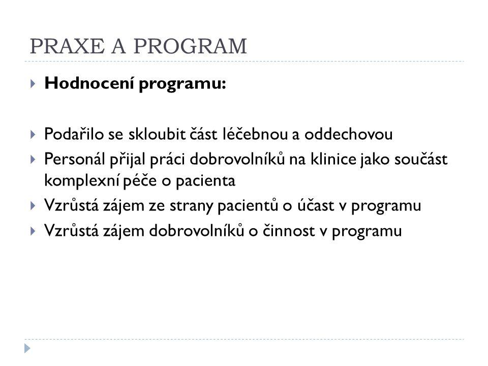 PRAXE A PROGRAM Hodnocení programu: