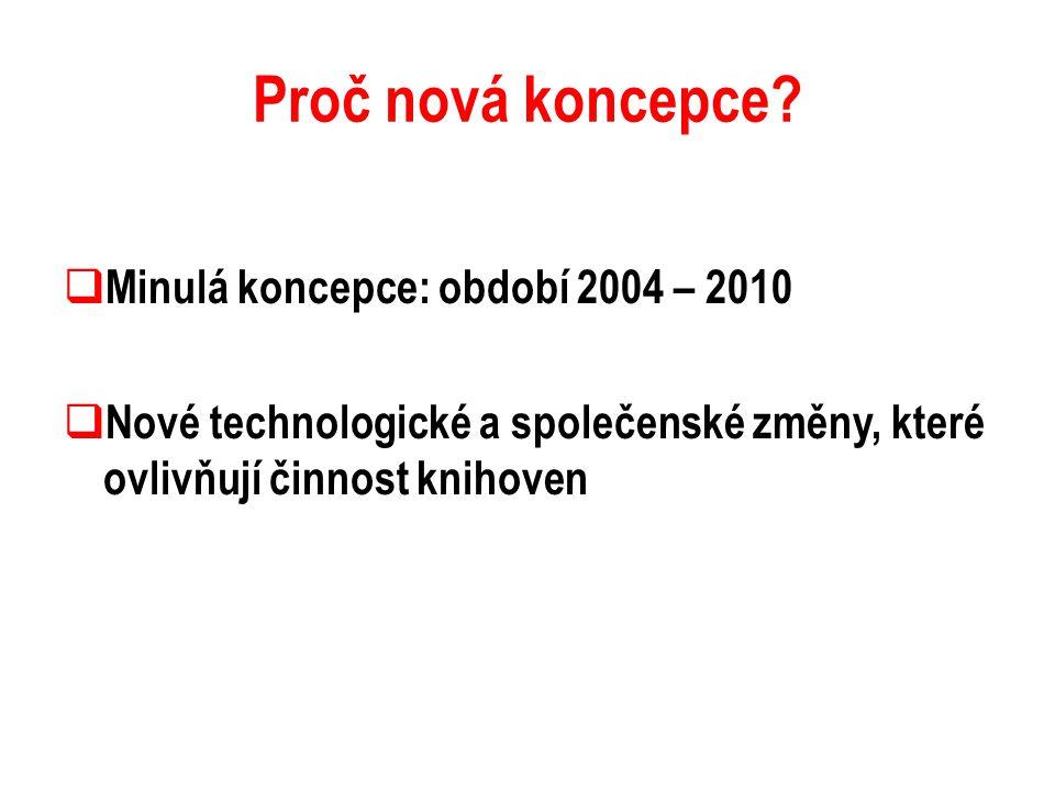 Proč nová koncepce Minulá koncepce: období 2004 – 2010