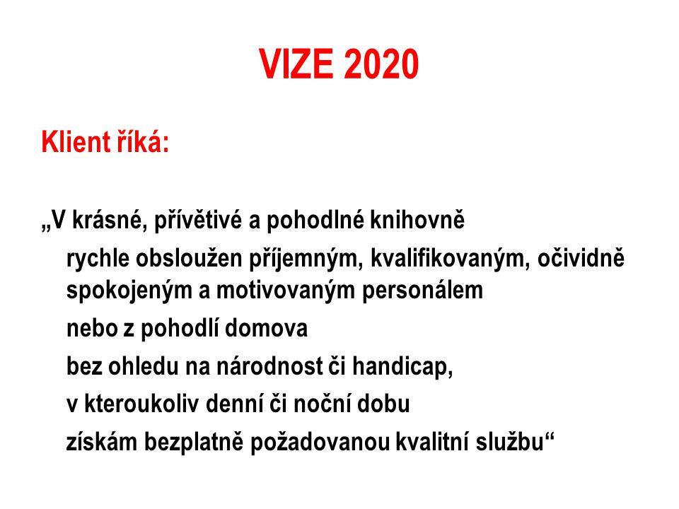 """VIZE 2020 Klient říká: """"V krásné, přívětivé a pohodlné knihovně"""
