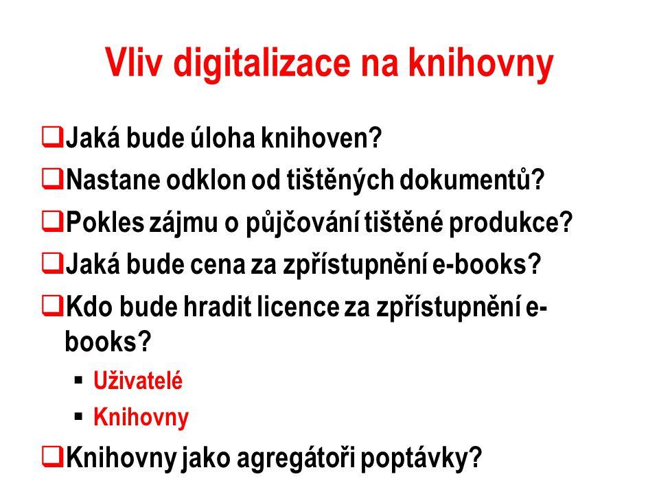 Vliv digitalizace na knihovny