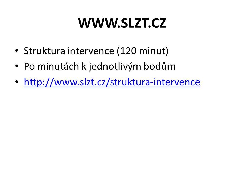 WWW.SLZT.CZ Struktura intervence (120 minut)