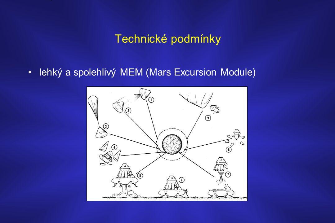 Technické podmínky lehký a spolehlivý MEM (Mars Excursion Module)