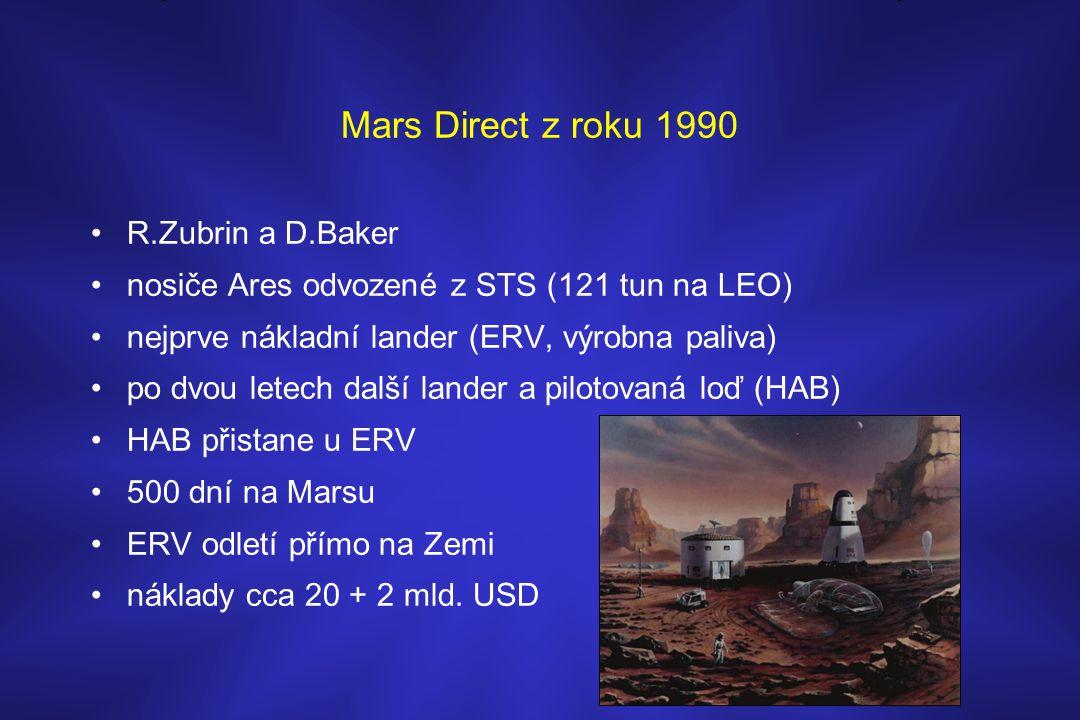 Mars Direct z roku 1990 R.Zubrin a D.Baker